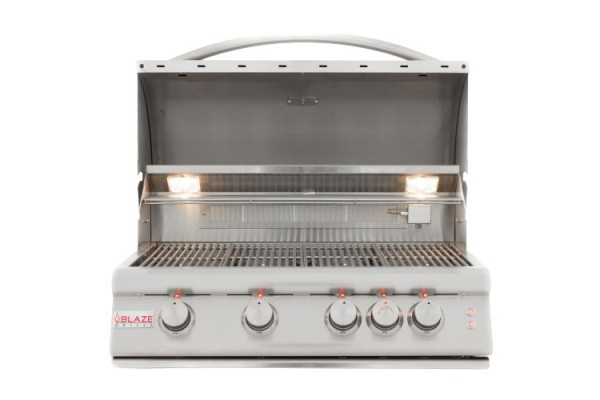 Blaze 32-inch 4 Burner Portable LTE Gas Grill with Rear Burner and Lighting System