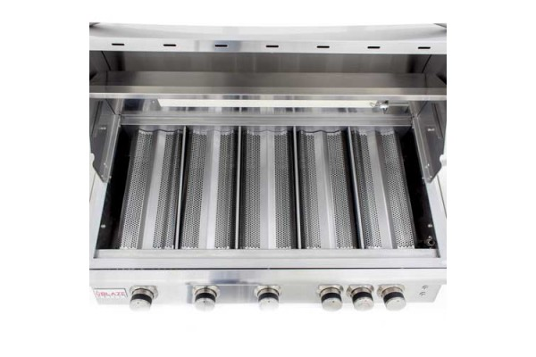 Blaze 40-inch 5 Burner Built-In LTE Gas Grill with Rear Burner and Lighting System