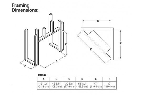 "Dimplex Revillusion 42"" Built-in Firebox, Weathered Concrete"