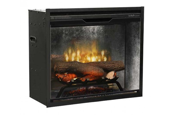 "Dimplex Revillusion 24""Built-in Firebox, Weathered Concrete"