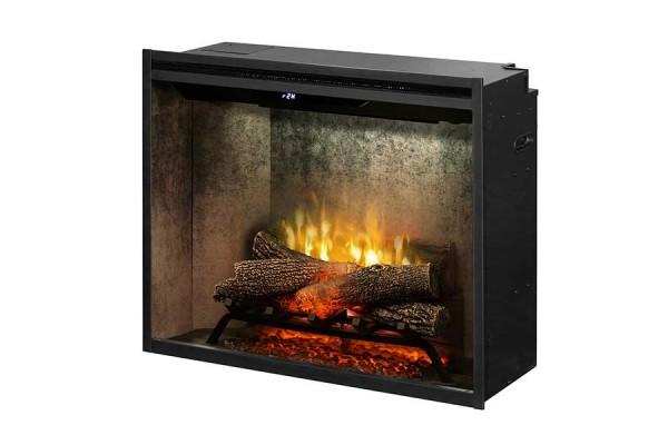 "Dimplex Revillusion 30"" Built-in Firebox, Weathered Concrete"