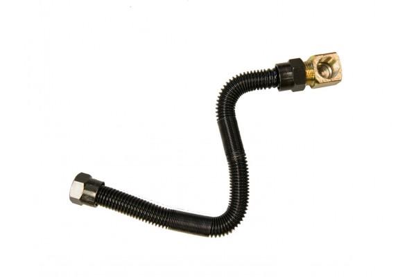 "Real Fyre Black 3/8"" Stainless Steel Flex Connector"