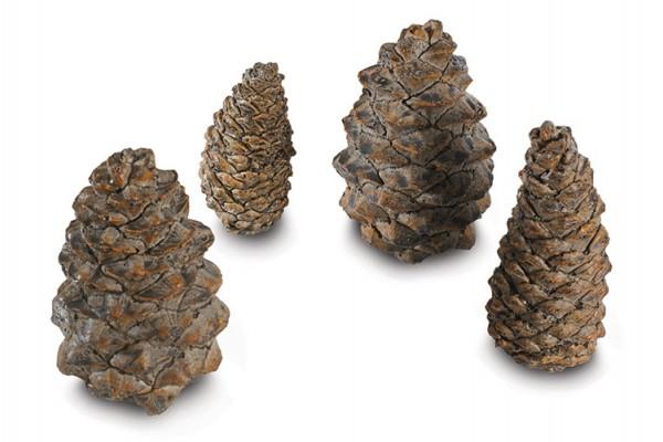 Real Fyre 4 Assorted Ceramic Designer Pine Cones (Case of 6)