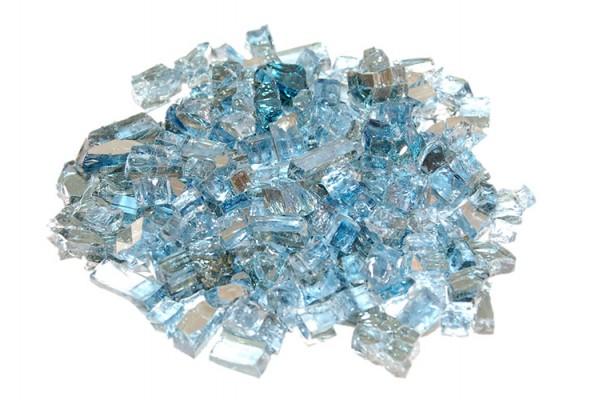 Real Fyre Caribbean Blue Reflective Fyre Glass