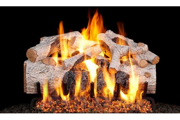 Real Fyre Charred Mountain Birch Logs with G46 Burner