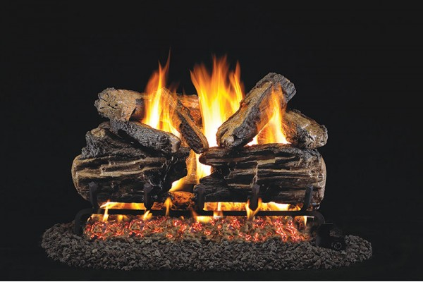 Real Fyre Charred Split Gas Logs Only