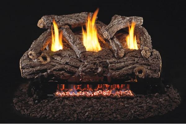 Real Fyre Golden Oak Designer Logs with G9 Vent Free Burner
