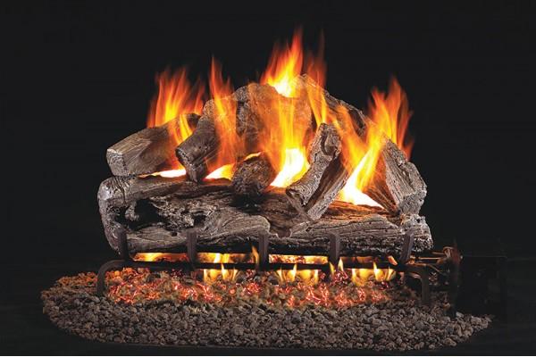 Real Fyre Rugged Split Oak Logs with G45 Burner