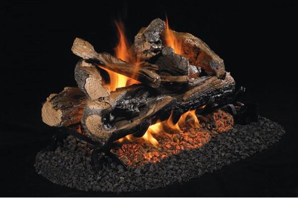 Real Fyre Rugged Split Oak See-Thru Gas Logs Only
