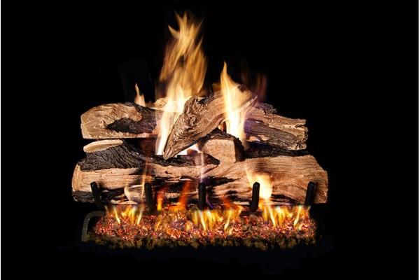 Real Fyre Split Oak Designer Plus Logs with G46 Series Burner