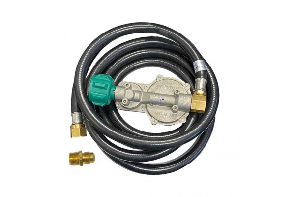 Fire Magic 10' Propane Extension Hose and Regulator with Elbow Fitting
