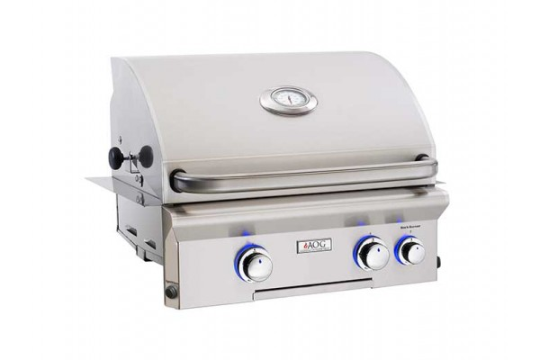 AOG 24-inch L Series Built In Grill With Rotisserie Backburner
