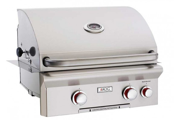 AOG 24-inch T Series Built In Grill With Rotisserie Backburner