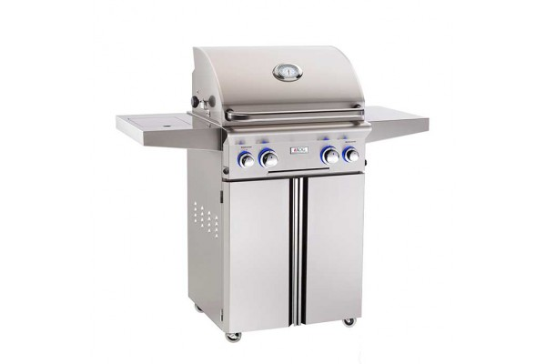 AOG 24-inch L Series Portable Grill With Rotisserie and Single Side Burner