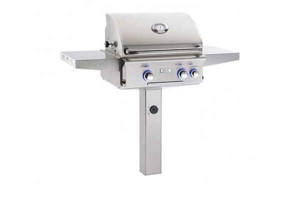 AOG 24-inch L Series In-Ground Post Grill With Rotisserie Backburner