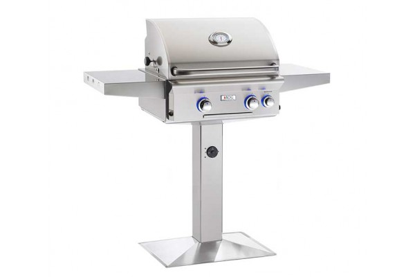 AOG 24-inch L Series Patio Post Grill With Rotisserie Backburner