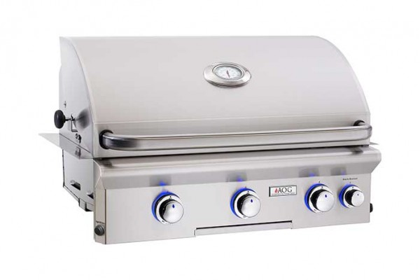 AOG 30-inch L Series Built In Grill With Rotisserie Backburner