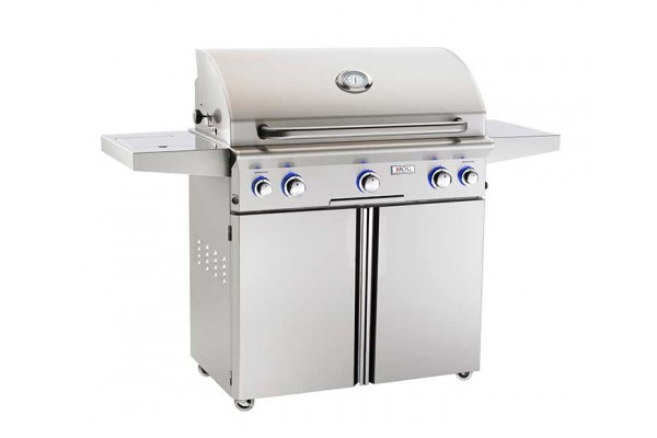 AOG 36-inch L Series Portable Grill With Rotisserie and Single Side Burner