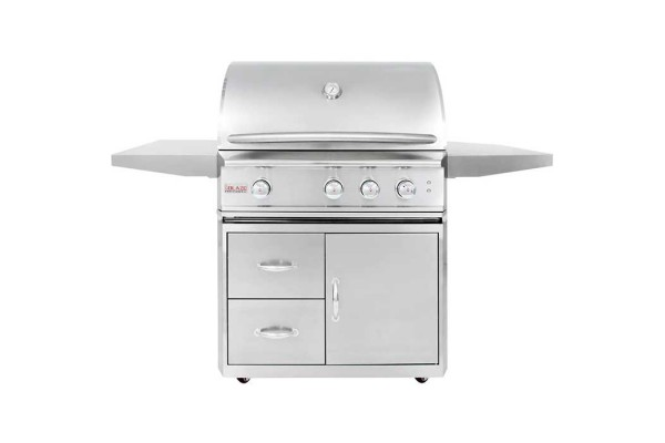 Blaze Professional Lux 34-inch 3 Burner Portable Gas Grill with Rear Infrared Burner