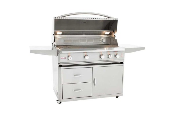 Blaze Professional Lux 44-inch 4 Burner Portable Gas Grill with Rear Infrared Burner (BLZ-4PRO-CART)