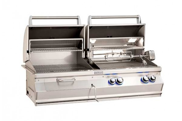 Fire Magic 46-inch Aurora A830i, Gas and Charcoal Combo Grill With Rotisserie