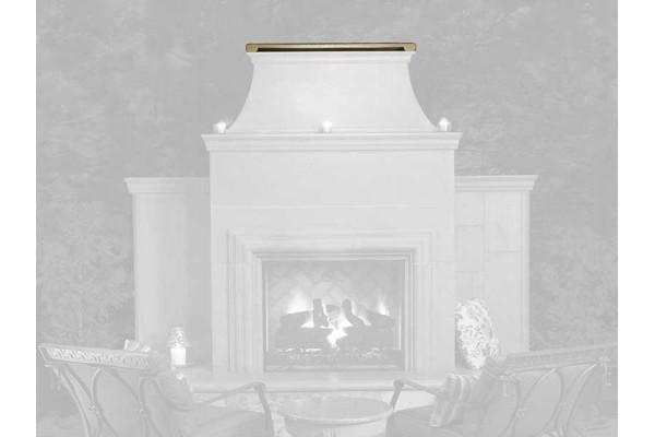 American Fyre Design GFRC Chimney Rain Vent Cap for Reduced Corova Fireplace