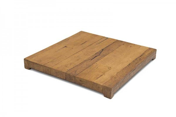 American Fyre Designs French Barrel Oak Square Dining Firetable Cover