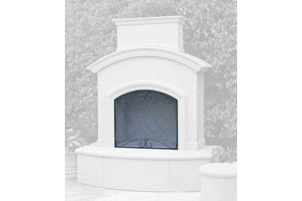 American Fyre Designs Scroll Screen for Phoenix and Mariposa Fireplaces