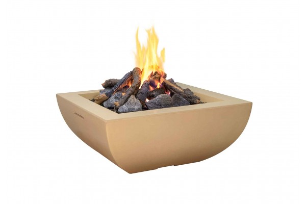 American Fyre Designs Light Basalt Bordeaux Rectangle Fire Bowl