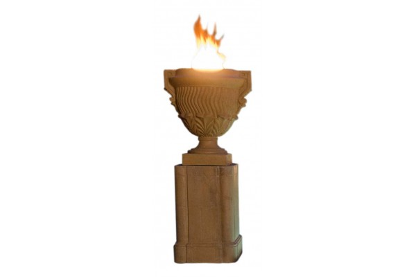 American Fyre Designs Piage Fire Urn and Pedestal