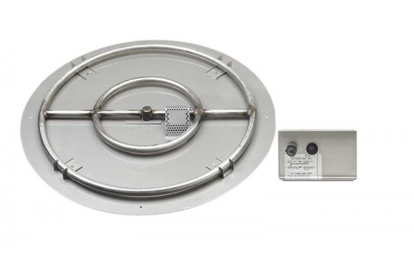 American Fyre Designs Large Circular Double Burner Kit with Plate