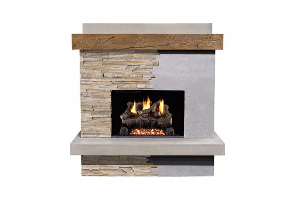 American Fyre Design Brooklyn Smooth Vent-Free Fireplace