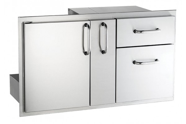 AOG 18 x 36 Door w/ Double Drawer and Platter Storage