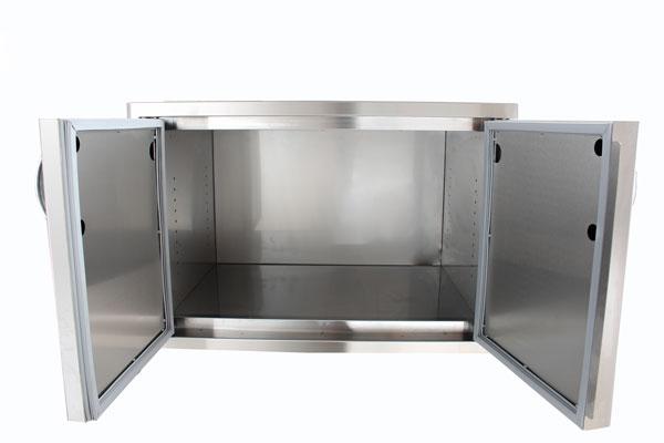 Blaze Stainless Steel Enclosed Dry Storage Cabinet w/ Shelf