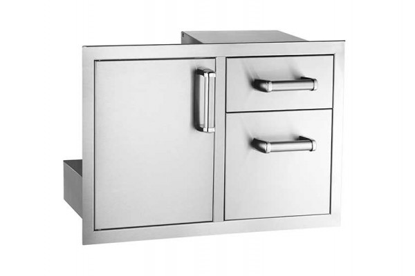 Fire Magic Flush Mounted Access Door With Double Drawer with Soft Close System