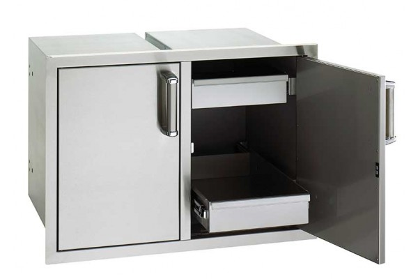 Fire Magic Flush Mount Double Drawer with 2 Dual Drawer