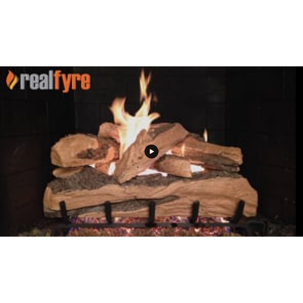 Real Fyre Split Oak Designer Plus Oak Logs with Stainless Steel G45 Burner